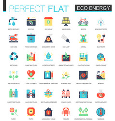 eco energy complex flat icon concept web vector image