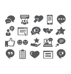 Feedback icons set vector