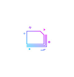 files icon design vector image
