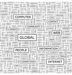 GLOBAL vector image