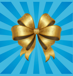 gold decorative bow isolated vector image