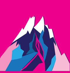 graphic bright colored mountain vector image