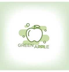Green apple - logo vector image