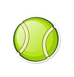 green tennis ball sports equipment vector image