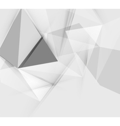 Grey triangular abstract background vector image