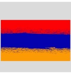 Grunge flag of armenia vector