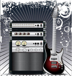 Guitar Combo music background vector