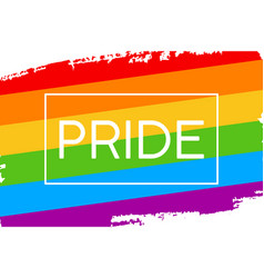 Hand draw lgbt pride flag in format vector