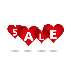 heart sale background vector image