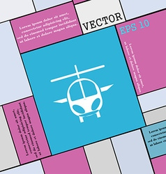 Helicopter icon sign Modern flat style for your vector