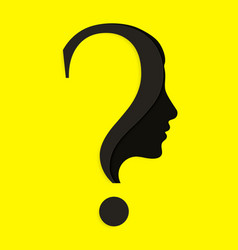 Human face with question mark vector