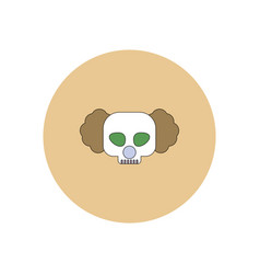 In flat design halloween icon vector