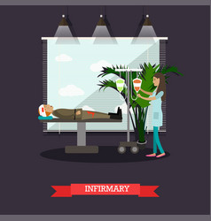 infirmary concept in flat vector image