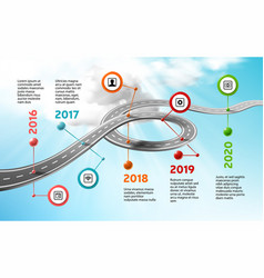 Infographic timeline template with icons vector