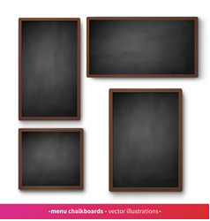 isolated menu boards with black frames vector image