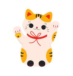 Japanese maneki neko japanese symbol good luck vector