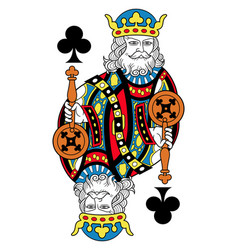 king of clubs isolated french version vector image