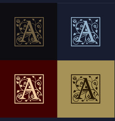 letter a decoration logo vector image