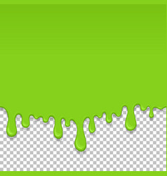 Light green dripping slime seamless element vector