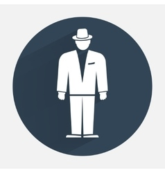 Man icon Office worker symbol Standing figure in vector image
