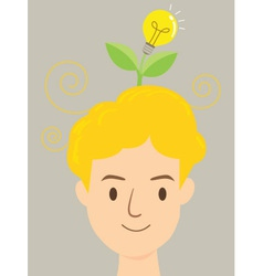 Man Idea Tree vector image