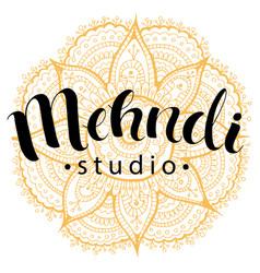 Mehndi studio logo vector