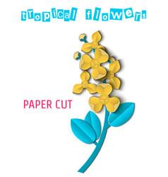 Paper cut tropical-03 vector