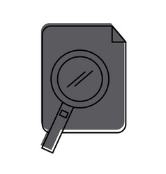 Paper document with magnifying glass vector