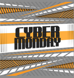 Poster for cyber monday vector