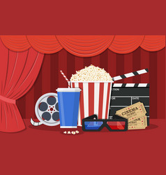Retro movie set vector
