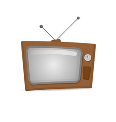 Retro tv in the wooden case vector