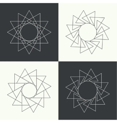 Sacred symbols and signs vector