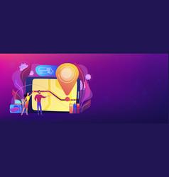 school bus tracking system header banner vector image