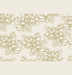 seamless pattern with white magnolia flowers on vector image