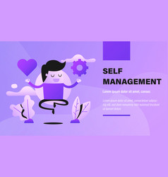 self management vector image
