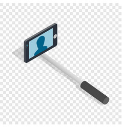 selfie monopod stick isometric icon vector image