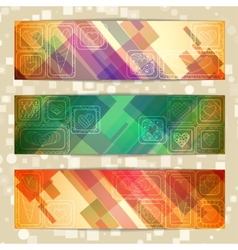 Set of light straight lines abstract pattern cards vector