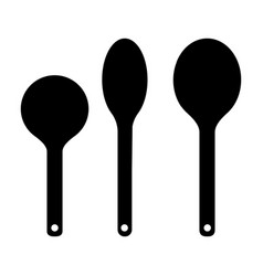 set of spoon silhouette vector image
