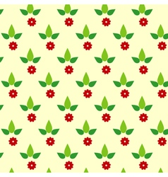 Simple floral pattern vector