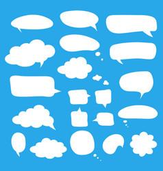 speech bubbles design for comments dialogs vector image