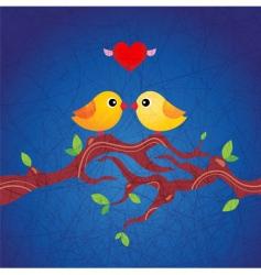 Spring birds illustration vector