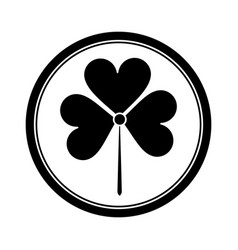 st patricks day shamrock icon pictogram vector image
