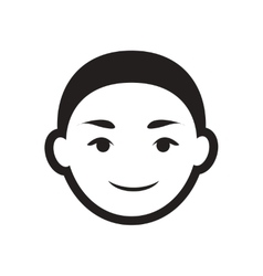 Stylish black and white icon indian boy vector