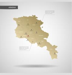 stylized armenia map vector image
