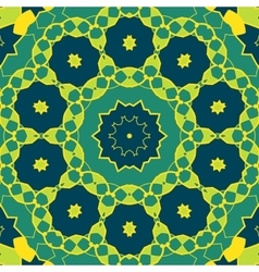 Stylized Mandala Green Colour Round Ornamental vector image