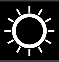 Sun the white color icon vector