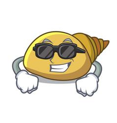 Super cool mollusk shell character cartoon vector