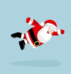 Super Santa Claus is flying vector