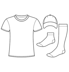 T-shirt Cap and Socks vector image