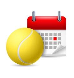 Tennis ball and calendar vector
